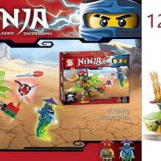 Joc creativ lego Ninja figurine, peste 121 piese
