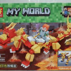 NOU/SIGILAT - Set de 151 piese tip lego Minecraft - LELE 33195-2