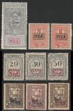 1917-1918 Ocupatia Germana in Romania - 9 timbre neuzate supratipar MViR caseta, Militar, Nestampilat