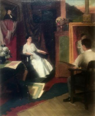 Tablou vechi, Peter SZÜLE (1886-1944), ulei pe panza. Garantez autenticitatea! foto