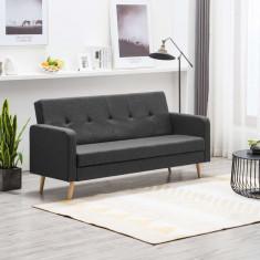Canapea din material textil gri închis