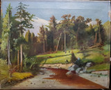 Peisaj cu rau, Copie dupa Ivan Siskin