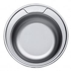 Chiuveta rotunda inox Sanitec, adancime 16 cm