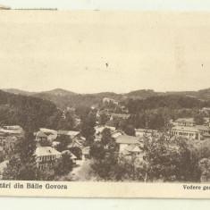 cp Govora : Vedere generala - circulata 1924, timbre