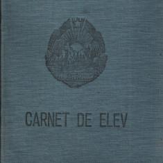 carnet de elev în alb, necompletat - vintage