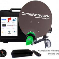 Antenă camping si receptor FocusSat pentru camion, rulotă,  complet la 12v