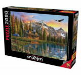 Cumpara ieftin Puzzle Anatolian Oldlook Cabin, 2000 piese
