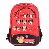 Ghiozdan Minnie Mouse Red, clasele 1-4, impermeabil, separator interior