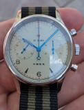 Seagull 1963 Pilot Cronograf Mecanic ST 1901 safir 40 mm V2, Mecanic-Manual