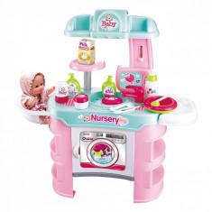 Set de joaca Premium pentru copii, Baby Nursery, 13 accesorii si un bebelus, multicolor