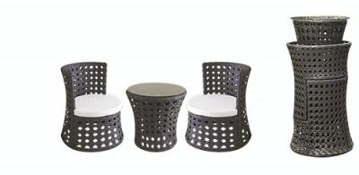 Set mobilier terasa, bar PALMA masa rotunda cu 2 fotolii din ratan Raki foto