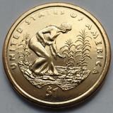 Monedă 1 Dollar 2009 USA unc, Native, Spread of three sisters Agriculture, America de Nord