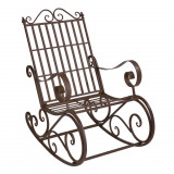 Scaun balansoar din metal, maro, pentru gradina- vintage, maro