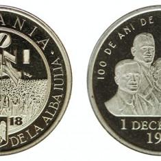 Moneda 50 bani 2018 centenar UNC din fisic