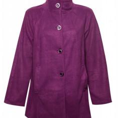 Jacheta dama fleece cu nasturi, Violet