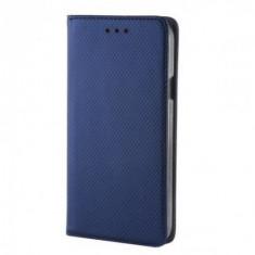 Husa Book Magnetic Soft pentru Samsung Galaxy S6 Edge Blue, Textil