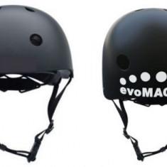 Casca de protectie evoMAG pentru trotineta electrica, bicicleta, bicicleta electrica, hoverboard (Negra), absoarbe usor socurile, orificii de racire,