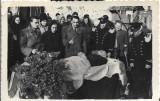 Fotografie militari romani inmormantare poza veche romaneasca interbelica