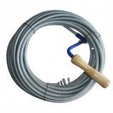 Cablu (sarpe) spirala pentru desfundat tevi de scurgere, Strend Pro KPZ20, lungime 20 m, cap 2.5cm