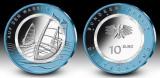 NOU !! Germania 5 x 10 euro 2021 ADFGJ - cu inel polimer - exterior Niobiu - UNC, Europa