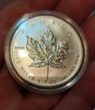Moneda Argint 999.Canada 5 Dollars Maple Leaf 2011., America de Nord