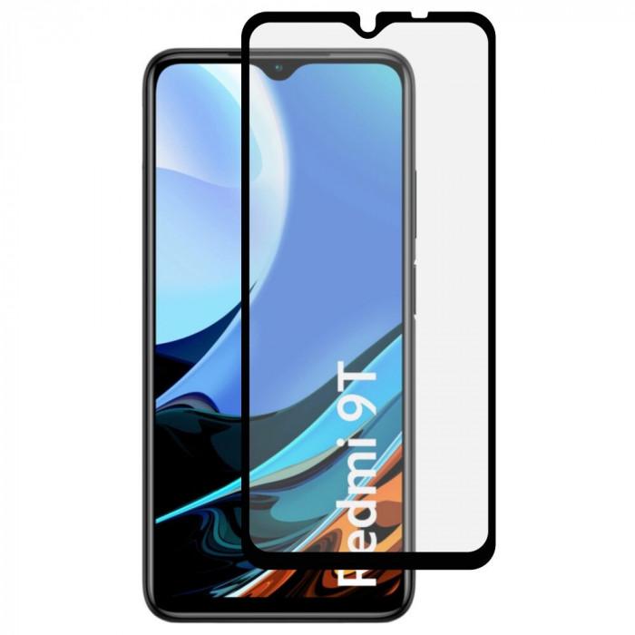 Folie Sticla Roar pentru Xiaomi Redmi 9T, 5D, Case Friendly, Full Glue, Negru