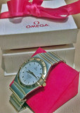 Ceas Omega Constellation Automatic Chronometer aur cu otel in cutie