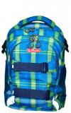 Rucsac Herlitz Wave Cu Doua Compartimente, Compartiment Pentru Laptop, 41 x 30 x 21 Cm, Motiv Blue/Green Checkers