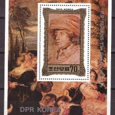 DPR Korea 1981 - picturi Rubens, colita neuzata