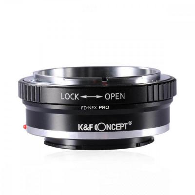 K&F Concept FD-NEX PRO adaptor montura Canon FD la Sony E-Mount (NEX) foto