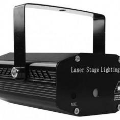 Proiector laser holografic GlowMania, stele in joc de lumini, cu telecomanda si senzor sunet
