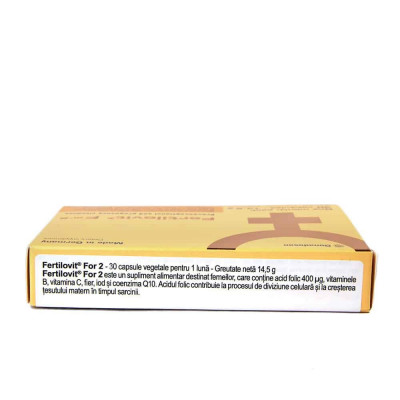 Fertilovit For 2, 30 capsule, Gonadosan foto