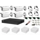 Cumpara ieftin Kit 4 camere supraveghere 2MP HDCVI Dahua + DVR 4 canale Pentabrid Dahua + Surse + Cablu + Mufe + Doze + Cablu HDMI