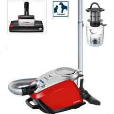 Cumpara ieftin Aspirator fara sac Bosch BGS5335, 3 l, Filtru HEPA, SensorBagless, Perie ProAnimal, Rosu