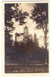 1363 - BRAN, Brasov, Dracula TOWER - old postcard, real PHOTO - used - 1933