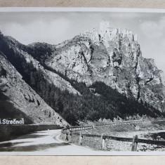 STRECNO , SLOVACIA , CASTEL PE CULMEA UNUI DEAL , FOTOGRAFIE TIP CARTE POSTALA , MONOCROMA, NECIRCULATA , DATATA SEPT. 1924