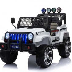Masinuta electrica Jeep Sunshine 4x45W PREMIUM ALB