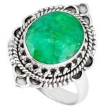 Cumpara ieftin Inel bijuterie din argint 925 cu smarald