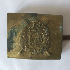 Catarama centura militara soldat, metal, veche, vintage