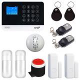 Cumpara ieftin Sistem complet de alarma SMART WiFi, GSM, RFID, compatibil Tuya / Smart Life