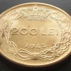 Moneda ISTORICA 200 LEI - ROMANIA, anul 1945  *cod 4254 - UNC din SACULET BANCAR