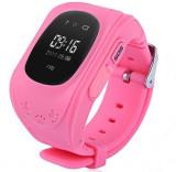 Ceas cu GPS Tracker si Telefon pentru copii iUni Kid60, Bluetooth, Apel SOS, Activity and sleep, Roz