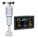 Statie meteo digitala Spring Breeze TFA, senzor extern wireless de temperatura, umiditate, viteza vant