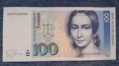100 Mark 1989 Germania RFG, marci germane foto