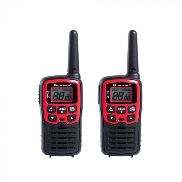 Resigilat : Statie radio PMR portabila Midland XT10 set cu 2 buc cod C1176