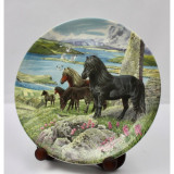 Farfurie Decor Davenport Serie Limitata - ''Shetland Ponies''