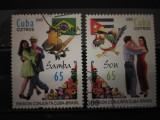 CUBA 2005,DANSURI,SERIE STAMPILATA