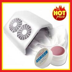 Aspirator Manichiura Praf Unghii Profesional Aspirator 2 ventilatoare Cadou Gel