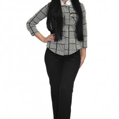 Pantalon modern din catifea ,nuanta neagra