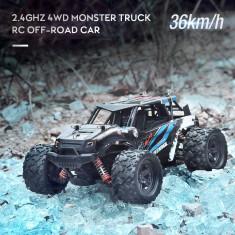 Masina cu telecomanda Thunder Storm Extreme 4×4, distanta 50m, negru/albastru